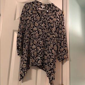 J Jill floral blouse. PL